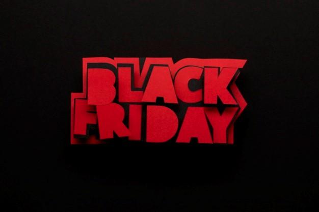 Sexta-feira negra minimalista escrita na cor vermelha Foto gratuita